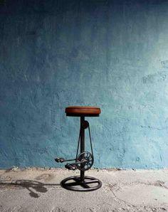 Unik Barstol med Lædersæde