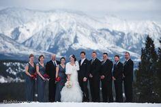 Nicole & Blake's Fairmont Banff Springs Wedding: Bridal Party in Banff, Alberta