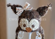 Newborn Woodland Owl Hat