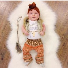 Gypsy Soul bodysuit - The Pine Torch. Boho baby fashion, boho baby girl onesie, baby girl bell bottoms, baby girl clothes.
