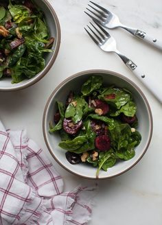 Cherry Spinach Salad makes a light Summer recipe for a healthy choice.