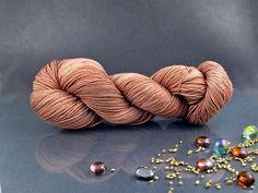 Morning Coffee - Hand Dyed Yarn, Merino Superwash in Brown, Hand Dyed Fingering Yarn by AspenYarnDyeing on Etsy