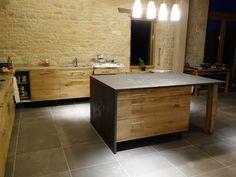 cuisine ik a et plan de travail trait avec du b ton cir chez barnab aime l. Black Bedroom Furniture Sets. Home Design Ideas