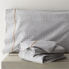 Pebble Sheet Sets - crate and barrel