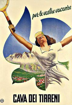 Art Ad Cava Dei Tirreni Travel Deco Poster Print