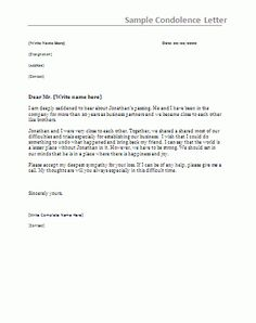 4 Best Free Condolence Letter Samples