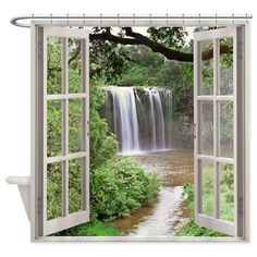 Dangar Falls Shower Curtain on CafePress.com