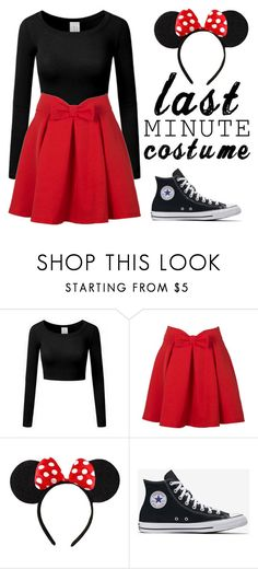 """Minnie Mouse Costume"" by wierdos-rule ❤ liked on Polyvore featuring WithChic, Disney and lastminutecostume"