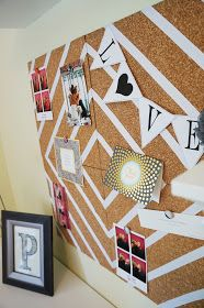 Cork board DIY and it turned out really cute!
