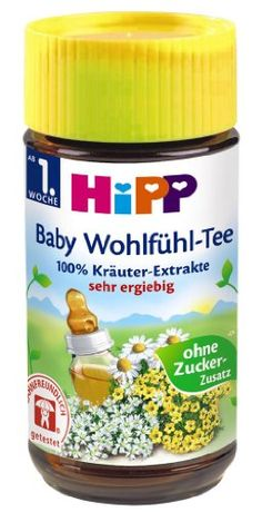 Hipp Baby Well-being Tea, 127 Servings, 1 Jar 127 Servings. concentrated. 23g.  #Hipp #Grocery
