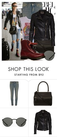 """440. Street Style: Behati Prinsloo"" by zaandupreez ❤ liked on Polyvore featuring November, Victoria Beckham, Givenchy, Mykita, MuuBaa, Dr. Martens, DrMartens and behatiprinsloo"