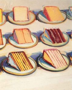 Best Ideas For Pop Art Painting Ideas Wayne Thiebaud Pop Art Artists, Food Artists, Famous Artists, Male Artists, Wayne Thiebaud Cakes, Wayne Thiebaud Paintings, Richard Diebenkorn, Food Art Painting, Cake Painting
