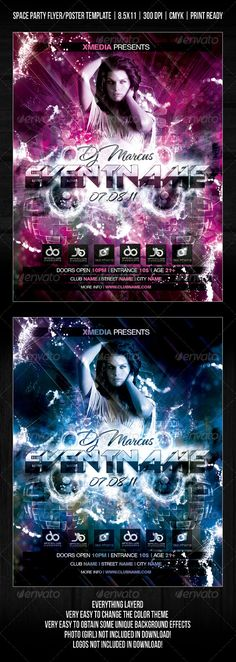 Luau Party - Club Flyer Template Flyer template, Print templates - party flyer template