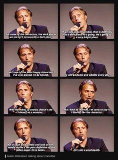 Mads Mikkelsen talking about Hannibal
