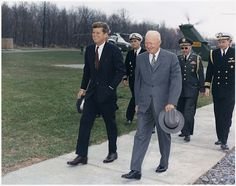 President Dwight D. Eisenhower  and President-Elect John F. Kennedy