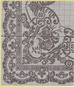 Kira scheme crochet: Scheme crochet no. Cross Stitch Borders, Cross Stitch Charts, Cross Stitch Designs, Cross Stitching, Cross Stitch Embroidery, Cross Stitch Patterns, Filet Crochet Charts, Knitting Charts, Crochet Motif