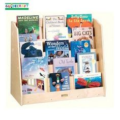 Our Single Sided Book Browser by Guidecraft is a highly functional bookcase that beautifully showcases children's books. Fashioned from birch, the Guidecraft Single Sided Book Browser features five shelves and a smooth, durable UV finish. Playroom Storage, Toy Storage Boxes, Book Storage, Kids Storage, Book Shelves, Art Cart, Toddler Furniture, Preschool Furniture, Children Furniture