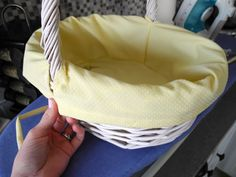 how to sew a liner for any sized basket
