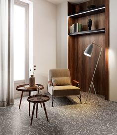 Da Sant'Agostino Ceramica, collezione Insideart. Pavimenti decorativi in gres porcellanato con stampa digitale ad alta definizione. Sant'Agostino è a Roma da Realprogetti sas Decoration, Corner Desk, Accent Chairs, Tiles, Flooring, Furniture, Home Decor, France, Rome