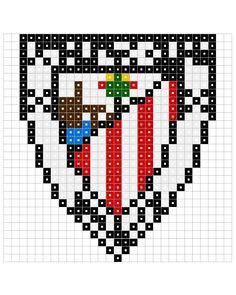 hama beads plantillas - Buscar con Google Hama Beads, Bilbao, Bead Crafts, Beading Patterns, Pixel Art, Carpet, Pearls, Football, Nespresso
