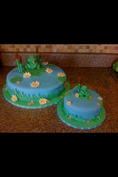 First birthday frog cake