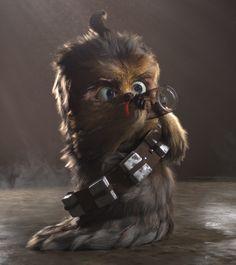 Baby Chewbacca   Star Wars   #starwars #starwarsart #starwarsfanart #chewbacca #wookie