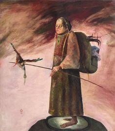 Calator in lumea sa Stefan Caltia Birds Painting, Magical, Painter, Illustration, Image, Painting, Sculpture, Surrealism, Art