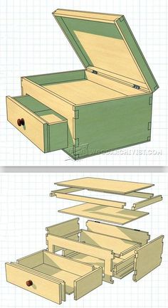 Lidded Box Plans - Woodworking Plans and Projects | WoodArchivist.com