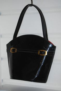 Vintage Patent Leather Purse, Handbag