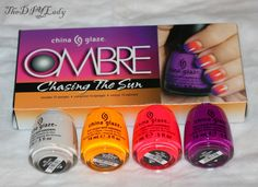 The Do It Yourself Lady: DIY Easy Summer Nails: Dotticure with China Glaze Ombre - Chasing the Sun Collection