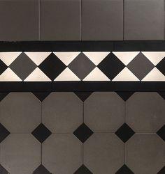Octagon & Dot Design & Norwood Border