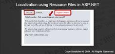 Localization using Resource Files in ASP.NET