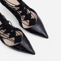 Image 10 of HIGH HEEL LEATHER SHOES WITH STRAPS from Zara