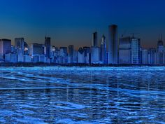 Manhattan night, desktop background