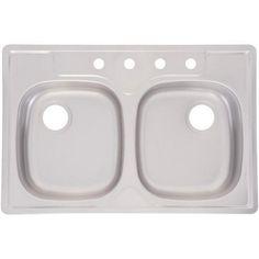 Franke Kindred Sinks : Franke Kindred Essential Silver Stainless Steel Double-basin Sink ...