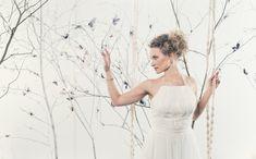 Hollywood Glamour, Finland, Aurora, Collaboration, One Shoulder Wedding Dress, Folk, Students, Photoshoot, Country