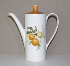 Vintage Bitter Sweet White and Gold Teapot by cocoandcoffeevintage