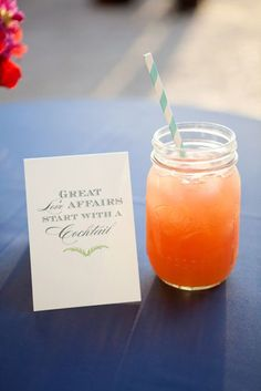 10 DIYs to Do With Your Bridesmaids: Wedding expert Abby Larson, editor and founder of Style Me Pretty, knows the ins and outs of what makes a fabulous big day. Tequila Sunrise, Mojito, Just In Case, Just For You, Drink Signs, Money Saving Meals, Diy Wedding, Wedding Ideas, Dream Wedding
