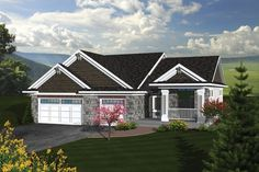 Houseplans.com Traditional Front Elevation Plan #70-1081