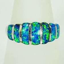 Exklusiver 925er Silber Ring mit Feueropal, Rhodiniert