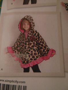 Girls Fleece Poncho by ChloizzysCloset on Etsy, $45.00