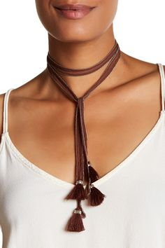 Chiffon Tie Necklace by Chan Luu on @nordstrom_rack