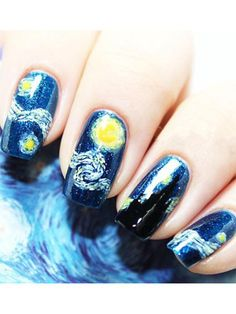 van gogh starry night theme prom nail stickers diy glitter nails sliver pink clear gold short white coffin summer black champagne tips neutral #nails #nailart #nailstagram #nailswag #naildesigns #glitter #glitternails #glittermakeup #nailgoals #sliver #gold #summer #diy #design #fashion #beautiful #beauty #gelnails #coffinnails #americangirl #dior #zara #hm #makeup