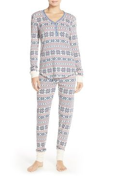 Free shipping and returns on PJ Salvage Thermal Pajamas at Nordstrom.com. Bedtime, boring? Definitely not when you're rocking cozy waffle-knit PJs covered in cute designs.