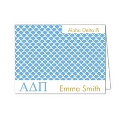 Alpha Delta Pi Scale Folded Note