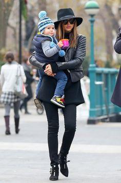 Miranda Kerr et son fils Flynn à New York,