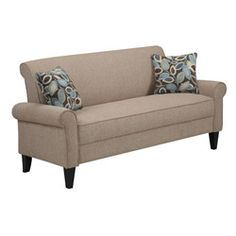 @Overstock - Give your living room, den, or family room a modern makeover with the addition of this chenille arm sofa. This sofa is upholstered in material that is a blend of soft chenille and polyester and has a sturdy hardwood frame for strength and durability. http://www.overstock.com/Home-Garden/Portfolio-Harper-Cream-Chenille-Rounded-Arm-Sofa/6437595/product.html?CID=214117 $370.79