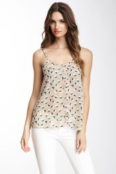 Printed Button-Up Tank
