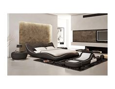 Monaco Contemporary Leather Bed