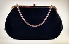 Beautiful Vintage Black Coblentz Perma Suede Purse VTG Handbag Golden Strap #Coblentz #EveningBag